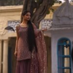 Plum Sharara Suit
